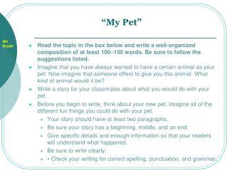 my pet composition