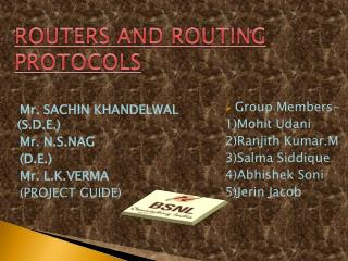 ROUTERS AND ROUTING PROTOCOLS