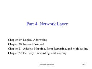 Part 4  Network Layer