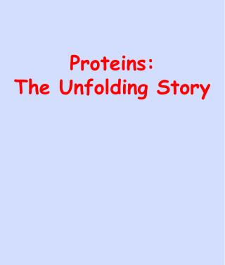 Proteins: The Unfolding Story