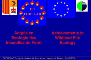 Achievements in Wildland Fire Ecology