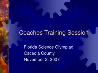 Coaches Training Session