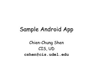 Sample Android App