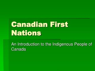 Canadian First Nations
