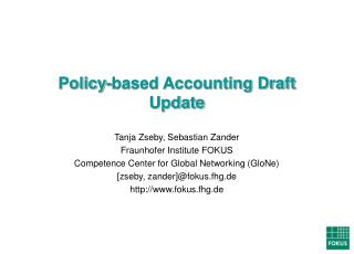 Policy-based Accounting Draft Update
