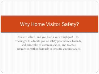 Why Home Visitor Safety?