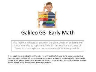Galileo G3- Early Math