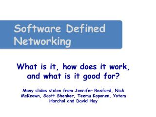 Software Defined Networking