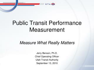 Public Transit Performance Measurement
