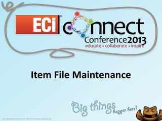 Item File Maintenance
