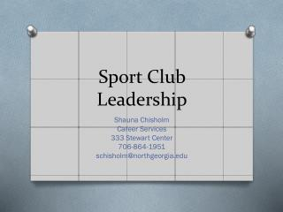 Sport Club  Leadership