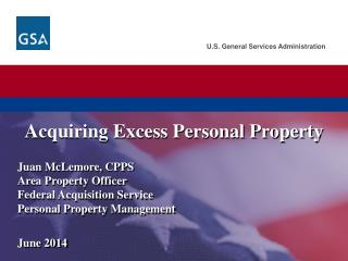 Acquiring Excess Personal Property