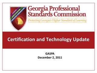 Certification and Technology Update
