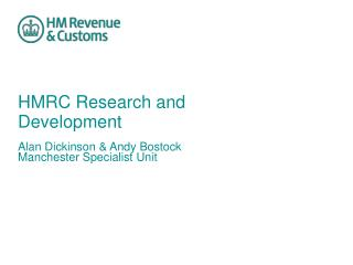 HMRC Research and Development