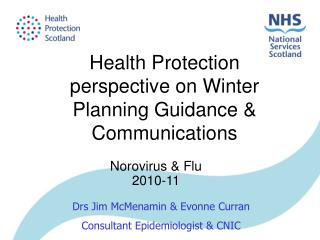 Health Protection perspective on Winter Planning Guidance & Communications