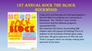 1st Annual Rock the Block Rockwood