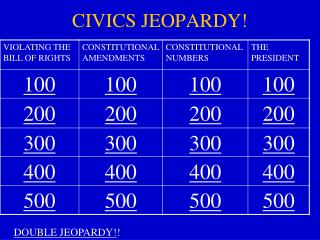 CIVICS JEOPARDY!