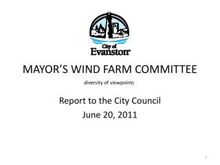 MAYOR'S WIND FARM COMMITTEE