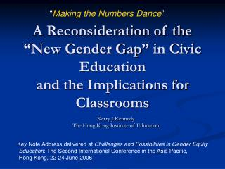 "A Reconsideration of the ""New Gender Gap"" in Civic Education  and the Implications for Classrooms"