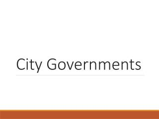 City Governments