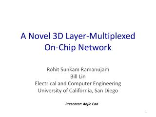 A Novel 3D Layer-Multiplexed On-Chip Network