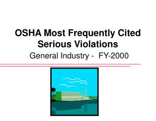 OSHA Most Frequently Cited Serious Violations General Industry -  FY-2000