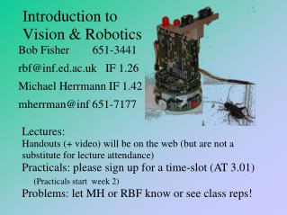 Introduction to Vision & Robotics