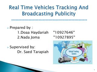 Real  Time  Vehicles Tracking And  Broadcasting Publicity