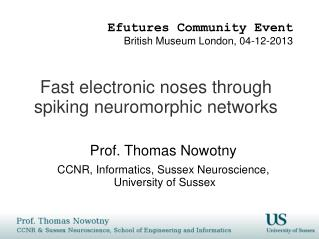 Fast electronic noses through spiking  neuromorphic  networks