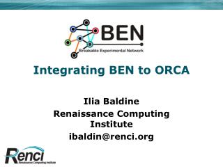 Integrating BEN to ORCA