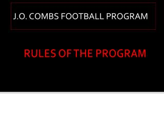 RULES OF THE PROGRAM