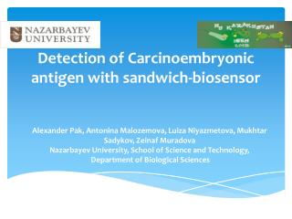 Detection of  Carcinoembryonic  antigen with sandwich-biosensor