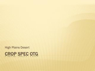 Crop Spec OTG