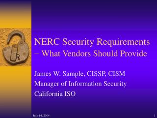 NERC Security Requirements –  What Vendors Should Provide