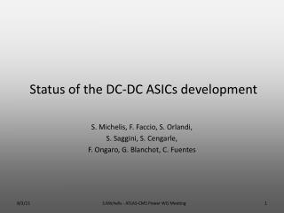Status of the DC-DC ASICs development