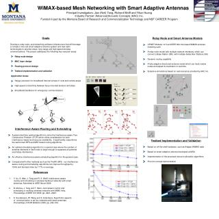 WiMAX-based Mesh Networking with Smart Adaptive Antennas