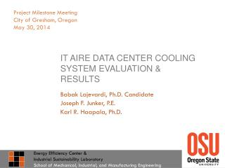 IT  Aire  data center cooling system evaluation & Results