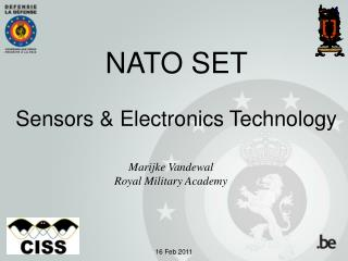 NATO SET Sensors & Electronics Technology