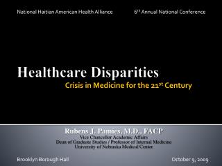 Healthcare Disparities
