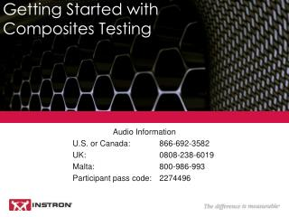 Getting Started with  Composites Testing