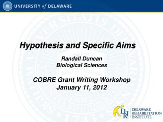 Hypothesis and Specific Aims