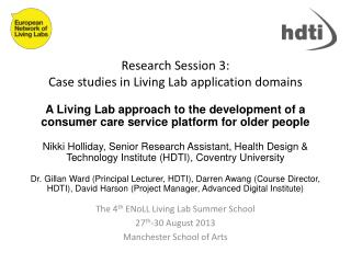 Research Session 3:  Case studies in Living Lab application domains