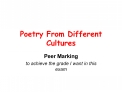 Poetry From Different Cultures