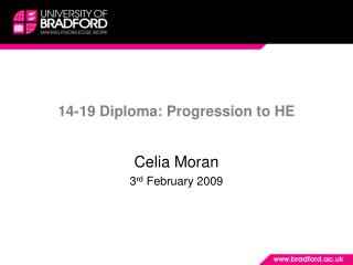 14-19 Diploma: Progression to HE