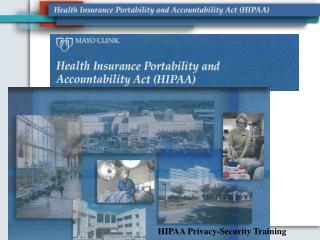 HIPAA Privacy-Security Training