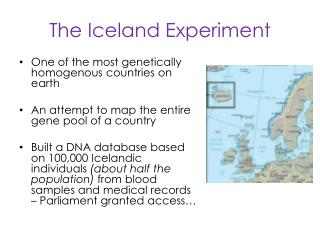 The Iceland Experiment