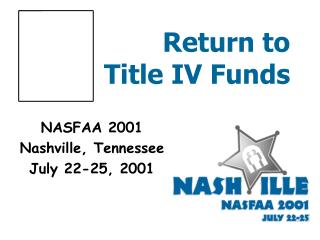 Return to  Title IV Funds