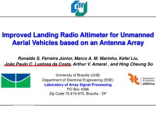 Improved Landing Radio Altimeter for Unmanned Aerial Vehicles based on an Antenna Array