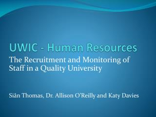 UWIC - Human Resources