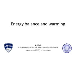 Energy balance and warming